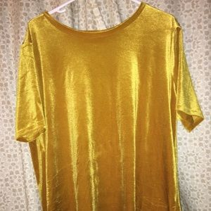 Mustard yellow velvet top
